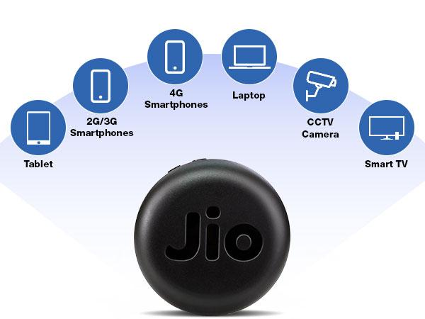 JioFi 4G Hotspot JMR815 150 Mbps Jio 4G Portable WiFi Data Device